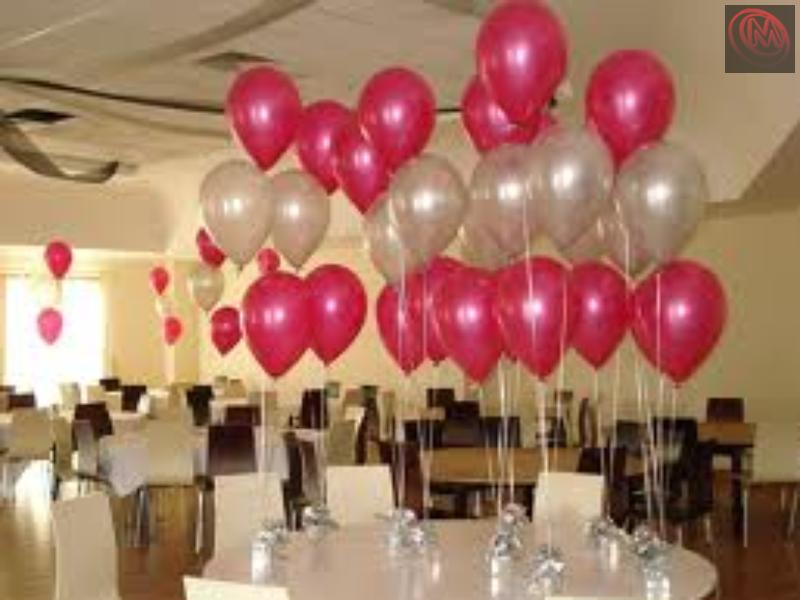 Hellium gas balloons normal balloons foil balloons for Helium balloon decoration
